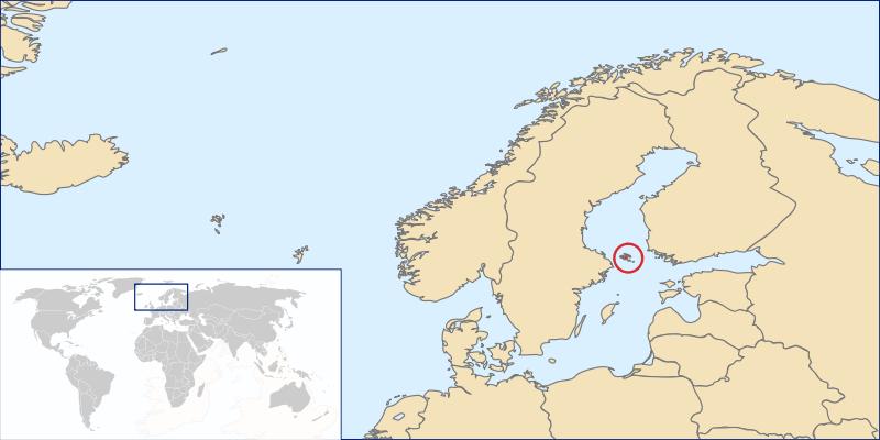 Islands World Map - Aland islands world map