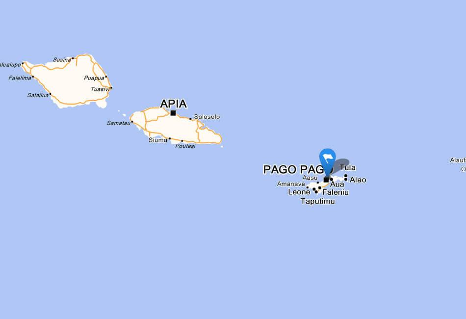 Samoa Asau Map - Map of american samoa