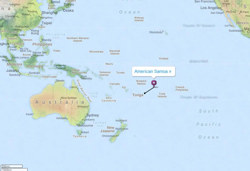 Map American Samoa