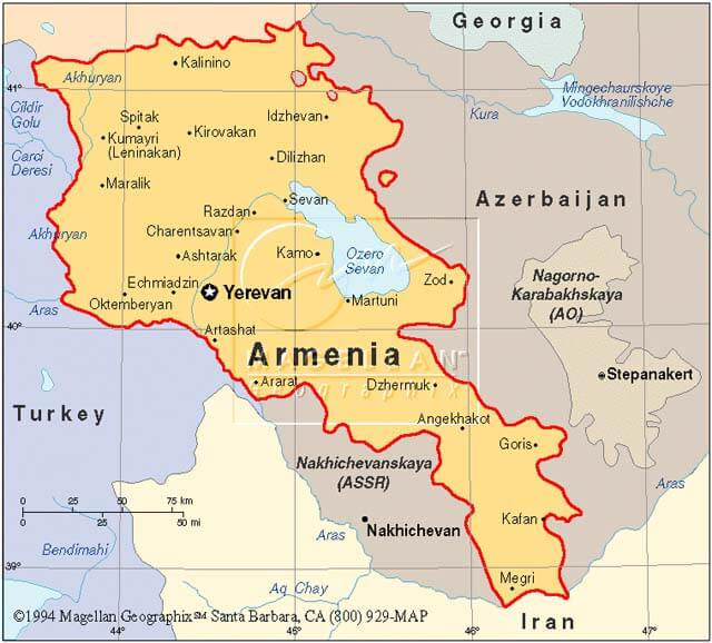 Political Map Of Armenia - Political map of armenia
