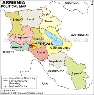 Armenian Political Map - Political map of armenia