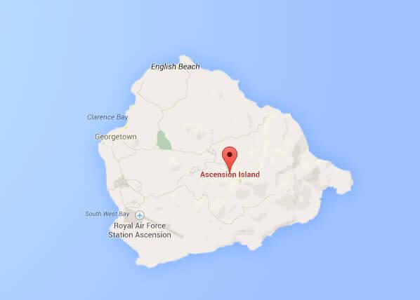 Island Google Map - Ascension island google map