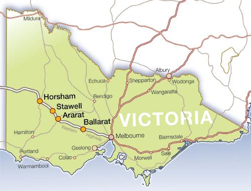 Ballarat Australia  city images : Ballarat Australia Map
