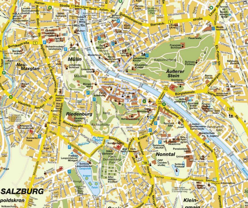 Salzburg Map – Salzburg Tourist Map Pdf
