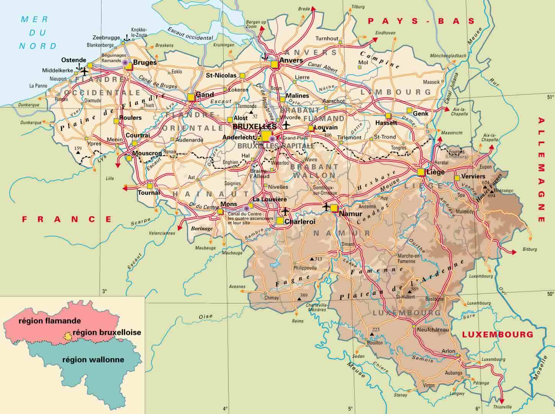 Belgium Political Map 2001 – Belgium Political Map