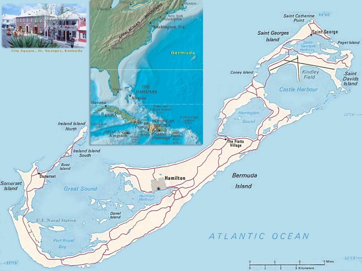 bermuda islands map. bermuda map usa