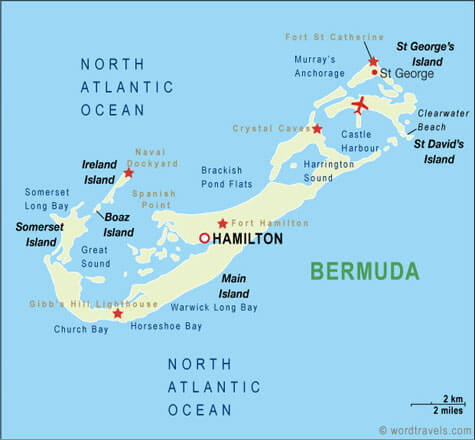 Bermuda Map USA - Map of us and bermuda