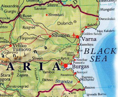 bulgarien varna karte Varna Karte Bulgarien   goudenelftal