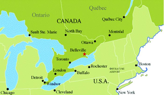 Map Of Belleville Ontario Cities Map of Belleville & Population of Belleville Cities