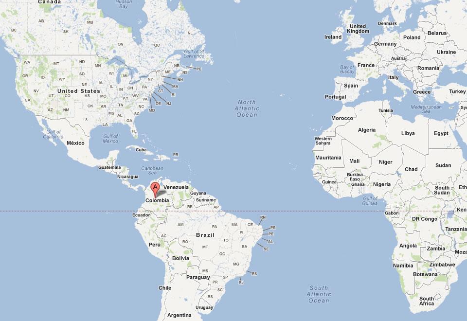 Bogota World Map | autobedrijfmaatje on
