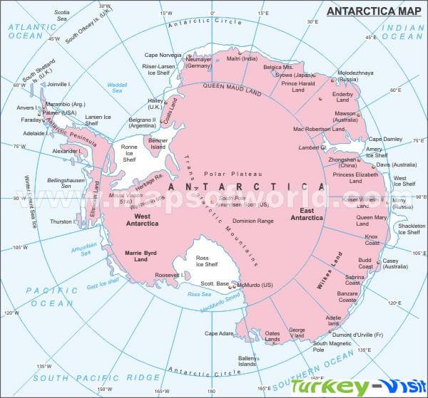 Antarctica Annual Precipitation Map - Antarctica physical map cities