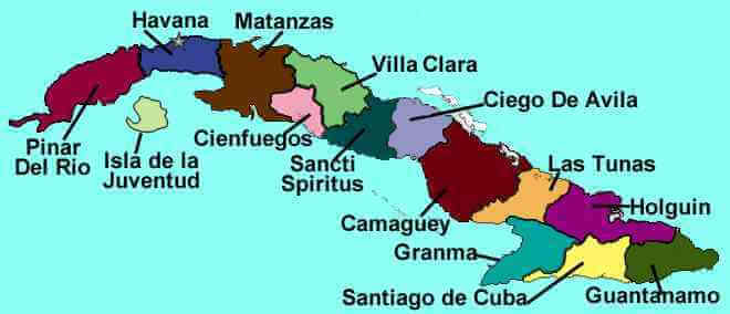 Political Map of Cuba