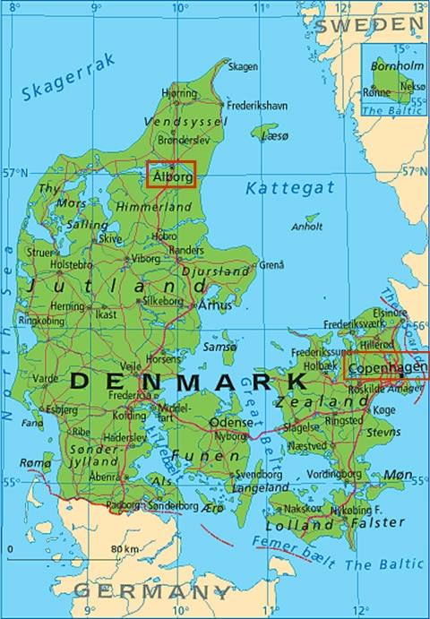 Aalborg Map