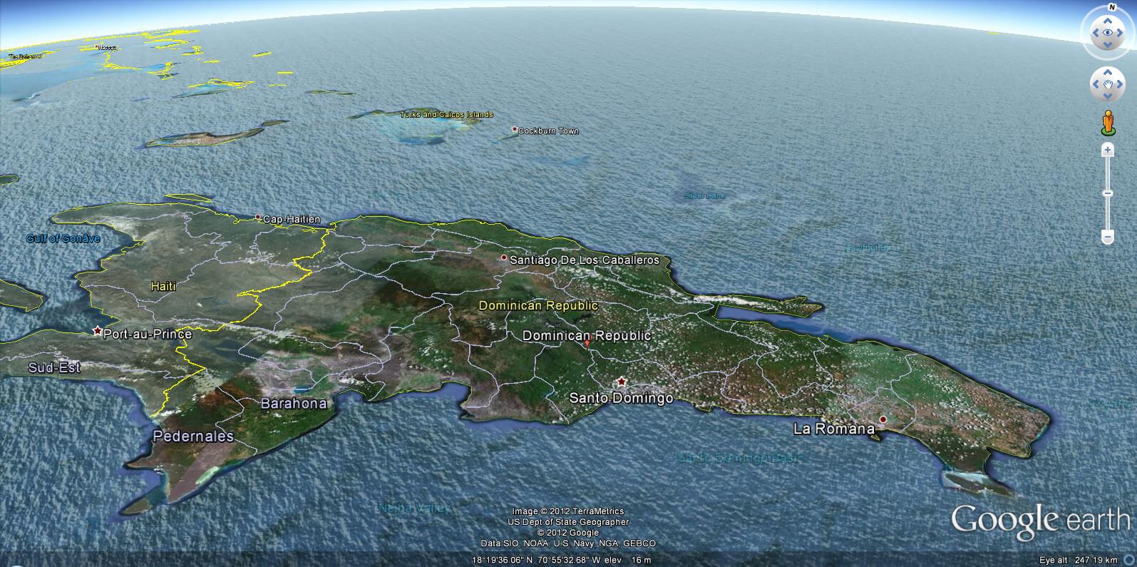 Dominican Republic Earth Map