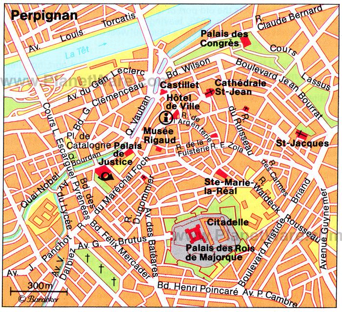 Perpignan Map