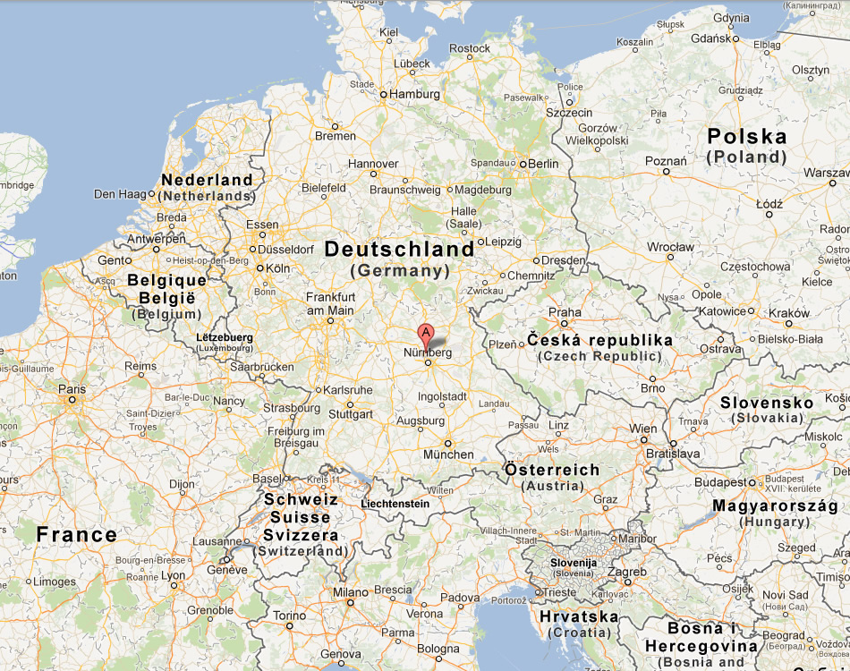 Erlangen Map Germany