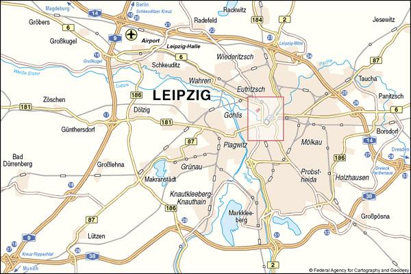 Leipzig Map