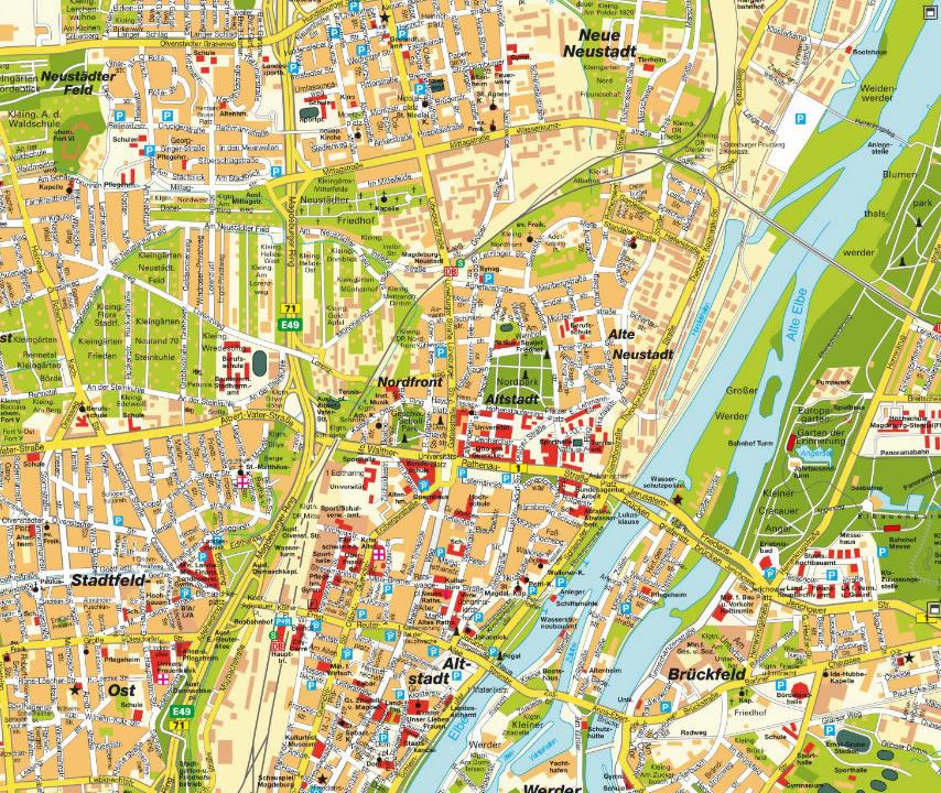 Magdeburg Map Germany
