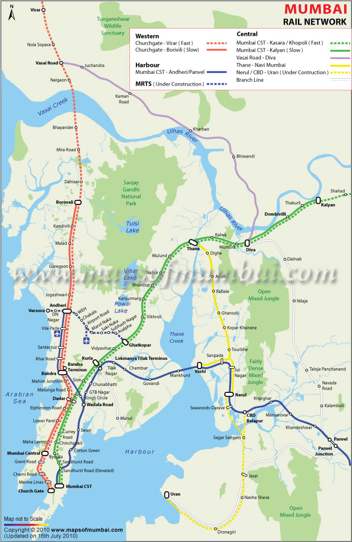 Mumbai On Map Of India.Mumbai Map