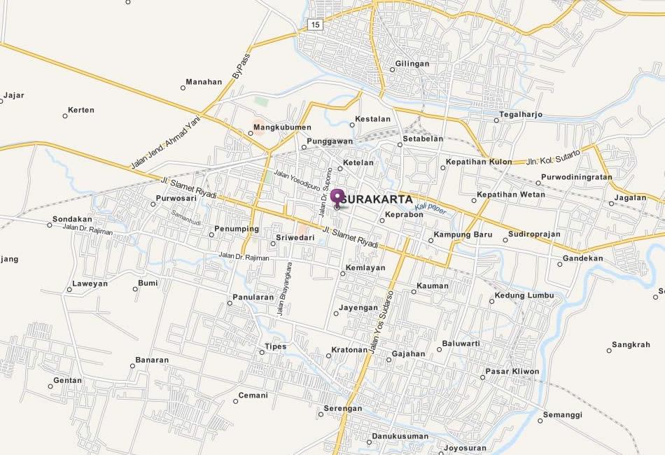Surakarta Map