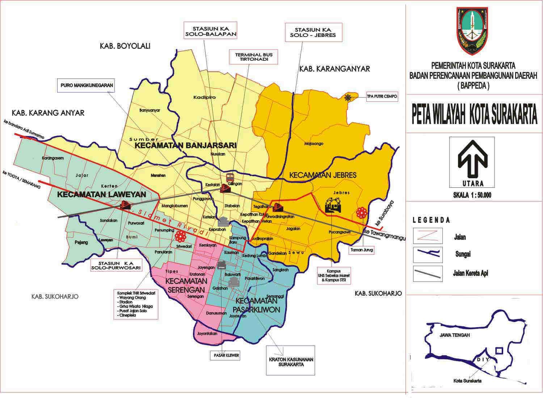 solo surakarta map - CitiesTips.com