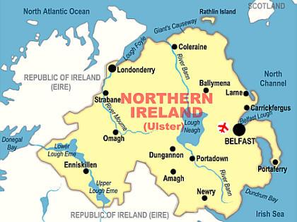 Street map Derry Ireland