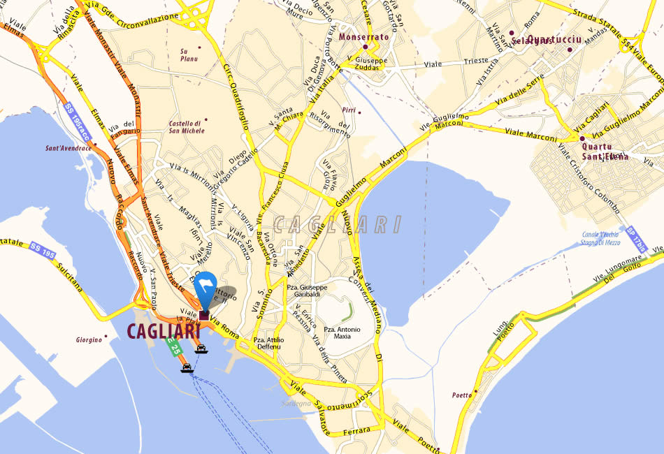 recensioni evasioni cagliari map - photo#25