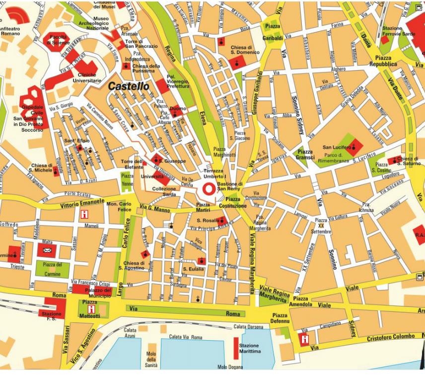 Amendola Italy Map.Cagliari Map