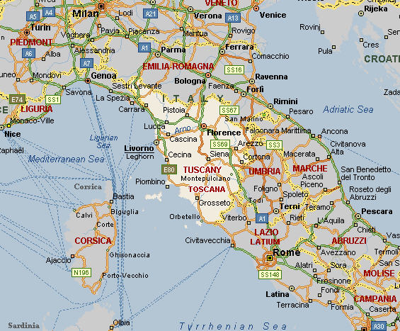 Livorno Map Italy