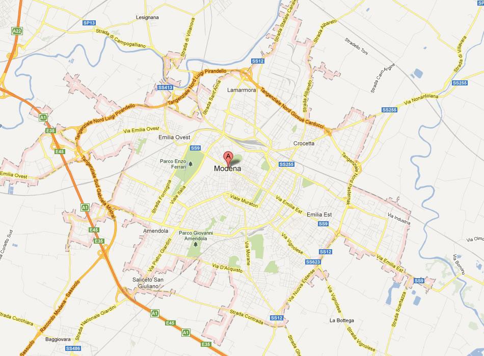 Amendola Italy Map.Modena Map
