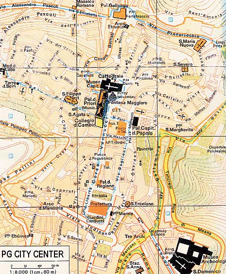 Perugia Map