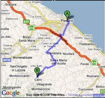 Carte Italie Pesaro.Pesaro Map
