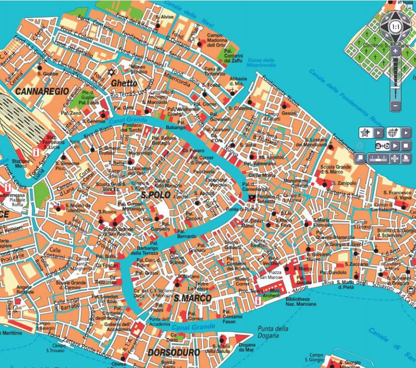 Venice Italy Map Of City