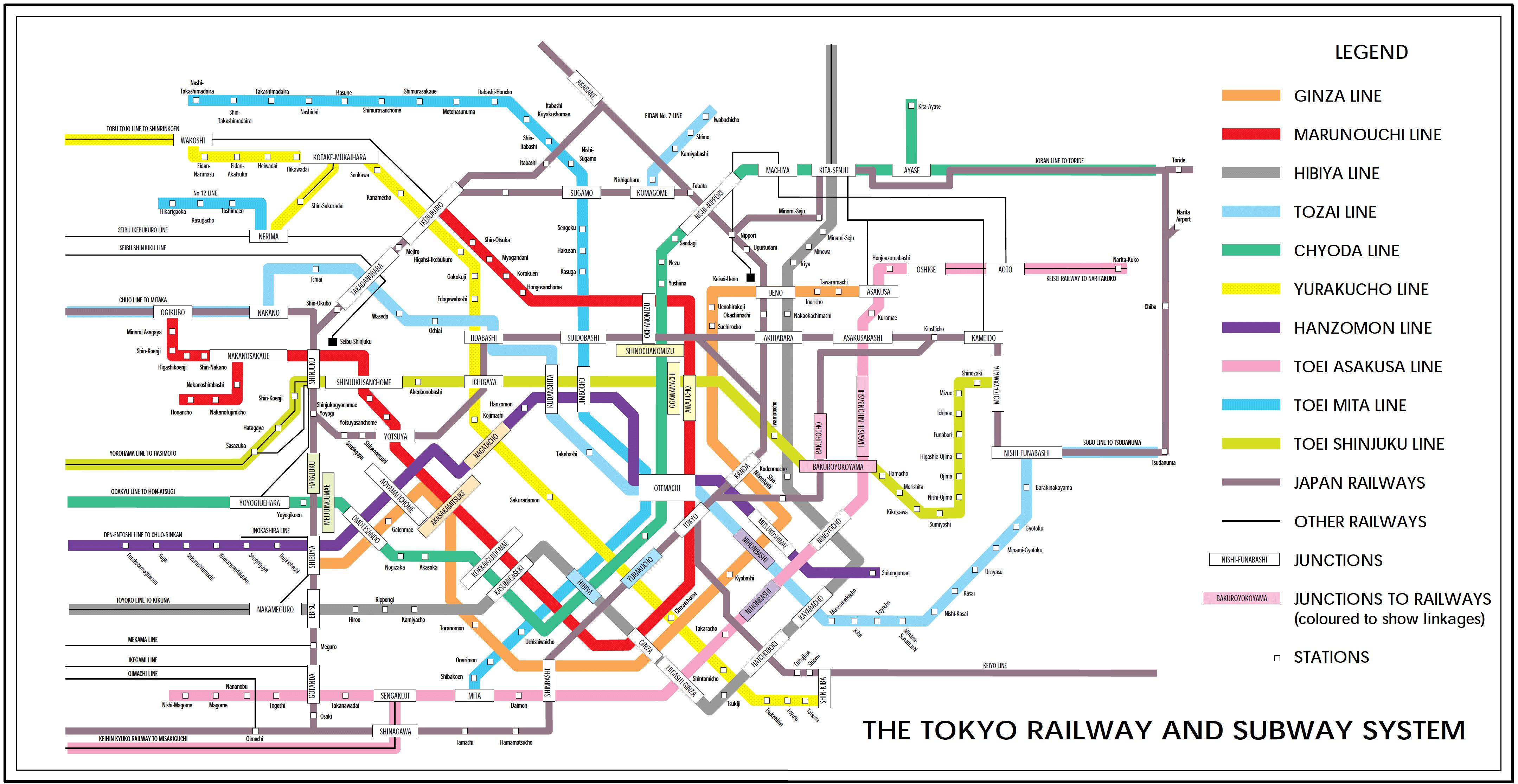 Interactive Tokyo Subway Map