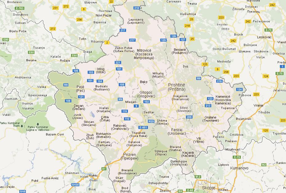 Kosovo map world map of kosovo gumiabroncs Choice Image