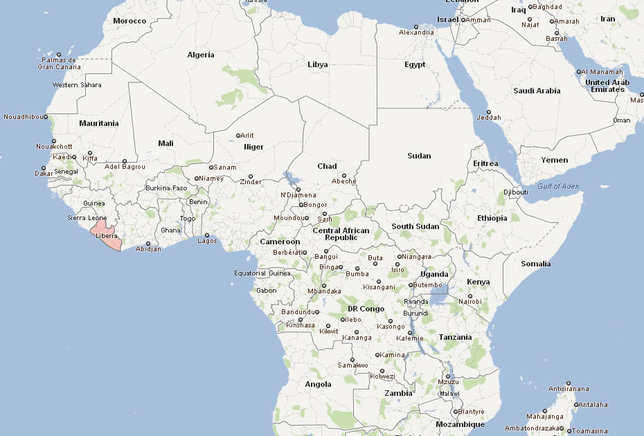 Liberia map map of liberia africa map of liberia world gumiabroncs Choice Image