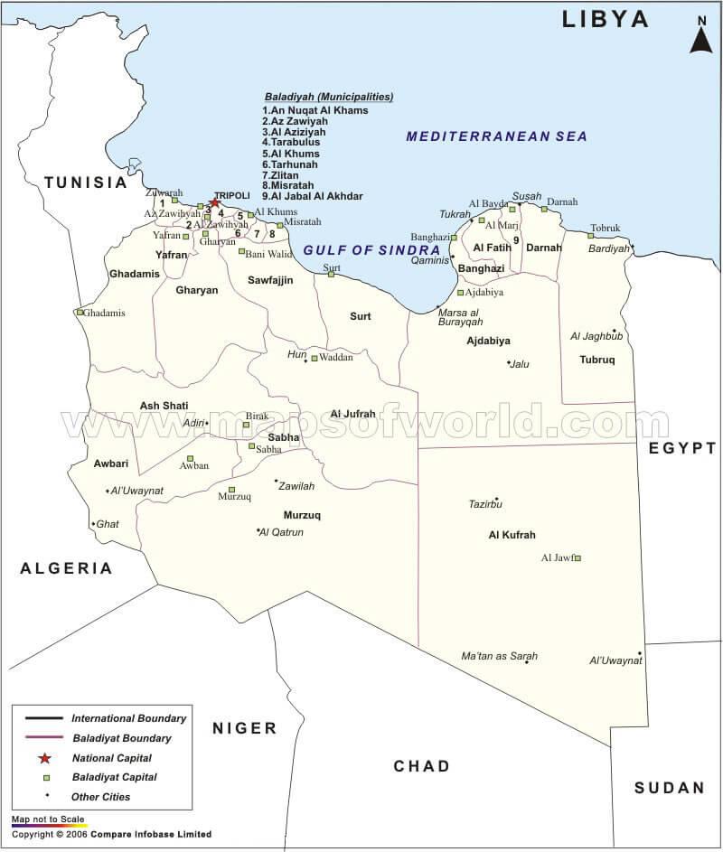 Libya Map - Where is libya