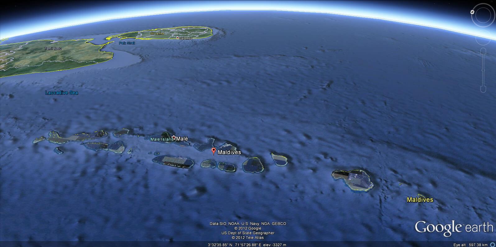 Maldives Map India - India maldives map male