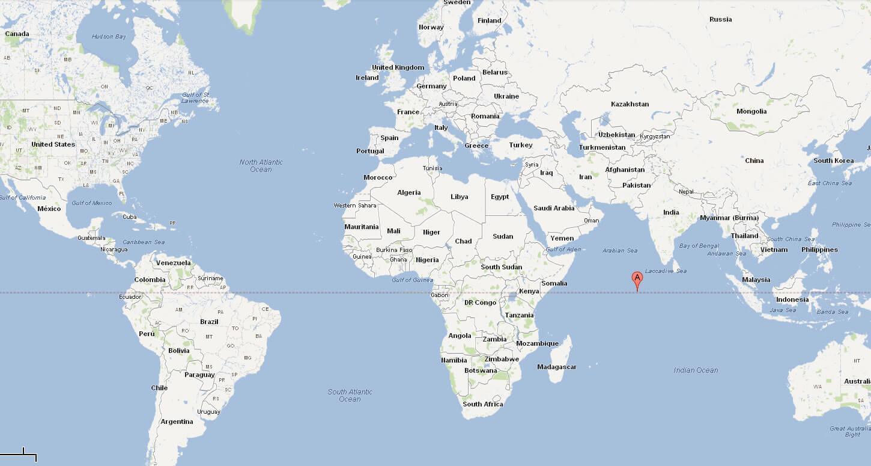 Maldives On A World Map.Political Map Of Maldives
