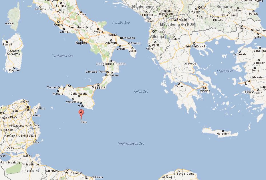 Map of malta europeg map of malta europe map of malta world gumiabroncs Images