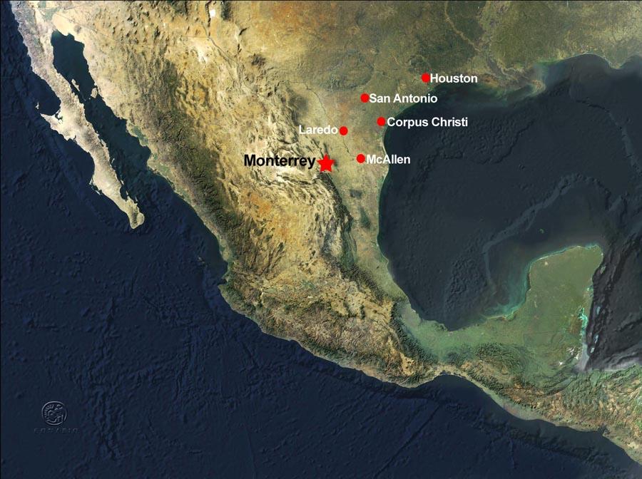 Monterrey Map – Map Monterrey Mexico