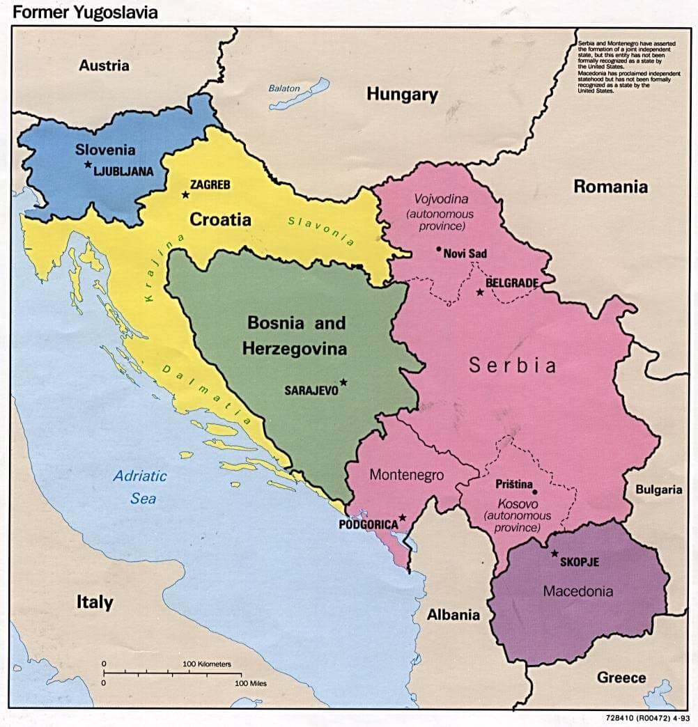 Kotor Montenegro Karte.Former Yugoslavia Montenegro Map
