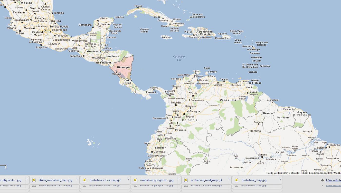 Nicaragua Map Honduras - Nicaragua map honduras