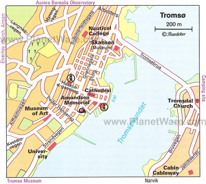 Tromsø (Norway) map - nona.net