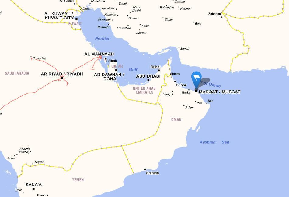 Oman map oman google map street views maps directions satellite images gumiabroncs Choice Image