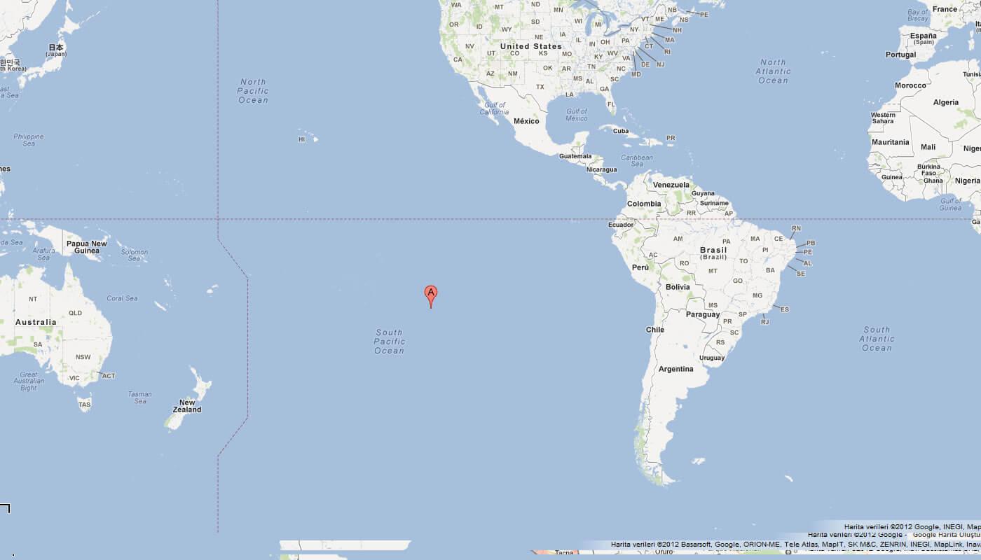 Map Pitcairn Island Google