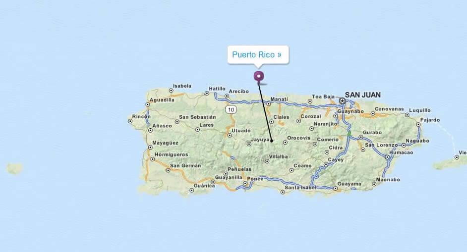 Map Of Puerto Rico San Juan