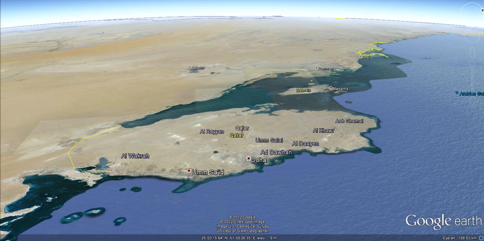 Qatar map qatar earth map gumiabroncs Choice Image