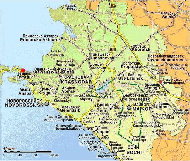 Krasnodar Map Russia