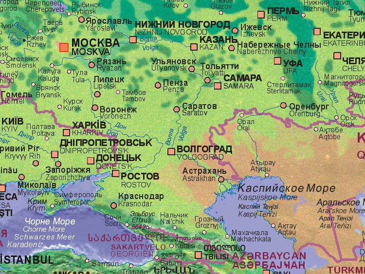 Stalingrad Russia Map